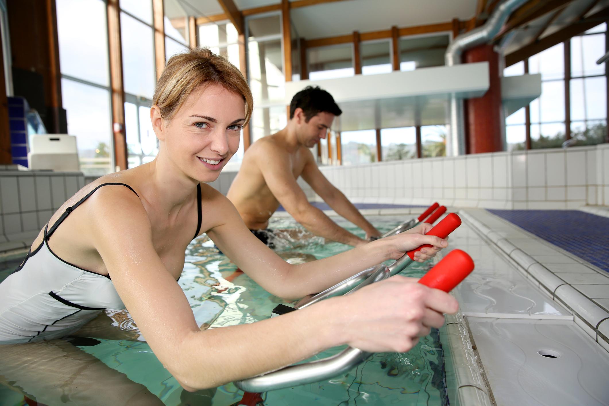 Cyclisme et natation: l'aquabike, la version aquatique du vélo d'appartement